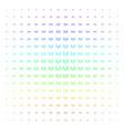 fireworks explosion shape halftone spectral grid vector image