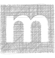 Freehand Typography Letter m vector image vector image