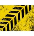 grungy hazard strip vector image vector image