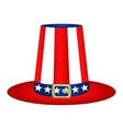 Hat with American flag image vector image vector image