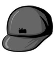 hip hop gray cap on white background vector image