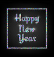 holographic typographic new year vector image