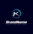 letter k spedometer logo tachometer speed logo vector image vector image