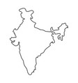 map india - outline vector image vector image