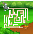 maze game of rabbit find the path to carrot vector image vector image