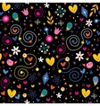 nature love harmony hearts flowers dots fun vector image vector image