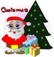 new year sets with santa claus gifts and vector image