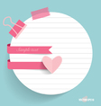 Note papers with cute ribbons ready for your vector image