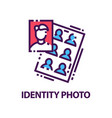 original flat logo with identity photos for vector image vector image