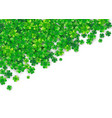 patricks day background with four green clover vector image vector image
