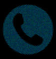 phone number composition icon of halftone bubbles vector image vector image