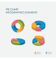 pie chart infographics elements 3d set vector image vector image