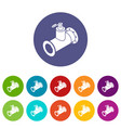 pipe water icons set color vector image vector image
