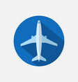 plane icon airplane flat sign vector image