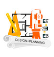 planing and design housing symbol vector image
