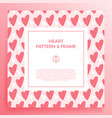 poster banner or card frame border with love hand vector image vector image
