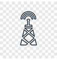 radar concept linear icon isolated on transparent vector image