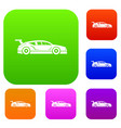 rally racing car set collection vector image vector image