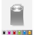 realistic design element open here vector image vector image
