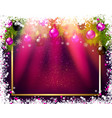 rectangular christmas background vector image