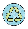 recycle sign icon vector image vector image