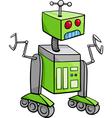 robot character cartoon vector image vector image