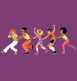 roller conga vector image vector image