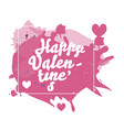 romantic happy valentines day card design vector image