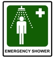 Safe condition sign Emergency shower vector image vector image