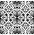 seamless pattern from black abstract mandalas vector image vector image