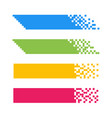 set abstract pixel web banners for headers vector image