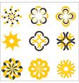 set design logo elements vector image
