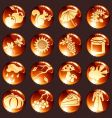 Set of red autumn icons vector image