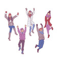 set of young people in vector image vector image