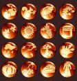 Set red autumn icons