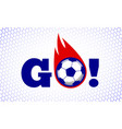 soccer football sport game fire ball design on vector image vector image