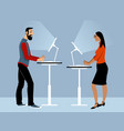 standing table couple vector image vector image
