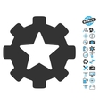 Star Favorites Options Gear Icon With Copter Tools vector image vector image
