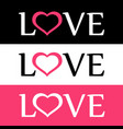 style flat logo of love with heart sign vector image vector image