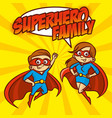 superhero family superheroes cartoon character vector image