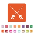 The sword icon Epee symbol Flat vector image vector image