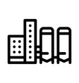 thermal towers with heat towers icon vector image vector image