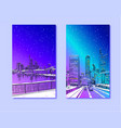 trendy cover template frankfurt am main germany vector image
