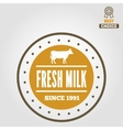 vintage label logo emblem template milk on vector image