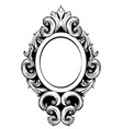 vintage mirror frame baroque rich design vector image