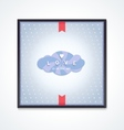 Volumetric cloud with pattern and inscription vector image vector image