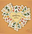 warm autumn vector image