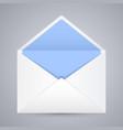 white blue blank envelope gray background vector image vector image
