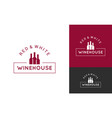 wine logo set design background vector image vector image