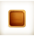 Wooden box app icon vector image vector image